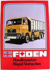 FODEN Haulmaster Rigid Vehicles Original Commercial Sales Sheet 1970s