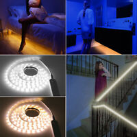 LED Strip Light Wireless PIR Motion Sensor Wardrobe Cabinet Battery Operated UK