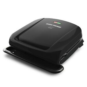 George Foreman 4-Serving Removable Plate Electric Grill - Black (GRP1060B)