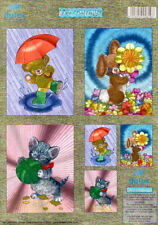 Kitten & Bunny NO CUTTING Die Cut Dufex 3d Decoupage Card Making Paper Craft