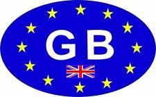 Identificación de país británico Bandera del Reino Unido europeo EU GB Coche Adhesivo Calcomanía x2