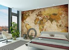 Vintage World Map Photo Wallpaper Mural Wall Paper Hanging Poster Globe XXL New