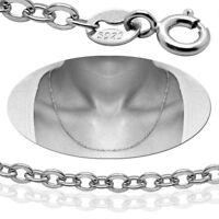 Damen Halskette 925er Sterling Silber Herren Silberkette Collier Ankerkette