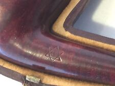 Antique Judaica Pipe Star Of David From Austria Real Amber Case Judaism Jewish