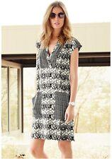 Next Mono Geo Printed Kaftan Dress 14Tall