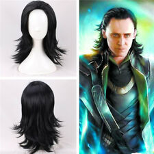 The Avengers Thor Loki Schwarz Perücke Black Wig Cosplay Costume Kostüme Neu New