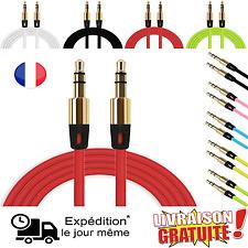 Prise jack male male 3,5mm Câble cordon auxiliaire 1,1M audio stéréo adaptateur