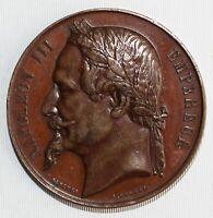 France Napoleon III Medal Signed Boscher & Borrel Copper Shot Luneville Mention