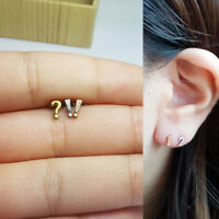 Ear Piercing Question Exclamation Mark Stud Barbell Earring Helix Cartilage 16G