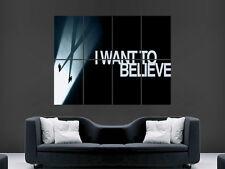 X FILES SERIE TV Show IO VOGLIO CREDERCI WALL POSTER Arte Foto Stampa Grande!!!