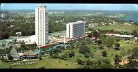 ABIDJAN (COTE D'IVOIRE) HOTEL IVOIRE avec PISCINE & HELIPORT vue aérienne en1984