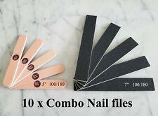 Nail Files 2- Sided Manicure Pedicure Buffer Shiner Polisher 100/180