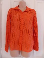 Laura Clement for La Redoute UK size 8 orange long sleeved shirt with holes