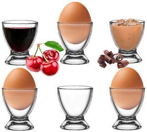 Platinux Eierbecher Set aus Glas 6 Teilig Eierständer Eierhalter Egg-Cup