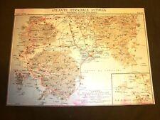 Carta geografica mappa Cagliari Iglesias I.San Pietro Touring Club Italiano 1922