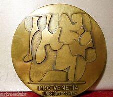 ART MEDAL SAFEGUARD OF VENICE VENEZIA ITALY WORLD HERITAGE UNESCO