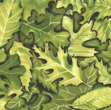 "Countryscape Green Leaves 20 4"" fabric squares quilting cotton quilt home decor"