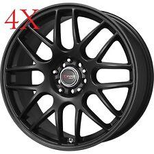 Drag Wheels DR-34 16x7.5 4x100 4x114 Flat Black Rim For Miata Crx Del Sol Mirage