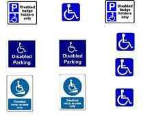 10 x Disable signs stickers for railway buildings code 3 buses etc lot RW1