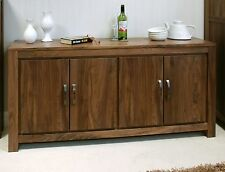 Mayan solid walnut home furniture large low living dining room sideboard