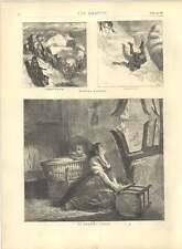 1871 incisioni Buffalo caccia nei pressi di Miss CANNONBALL Pregando Madre