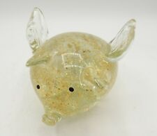 Dynasty Gallery Glass Paperweight Pig Angel with Wings Angel Gold Specks
