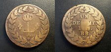 Louis XVIII - 1 décime blocus de Strasbourg 1815 BB, Strasbourg .. G#196
