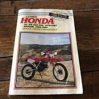 Clymer Honda XL XR250-350 XR200 R 1978 1989 Service Repair Shop Manual M328
