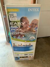 Intex 15 X 48 Easy Set Swimming Pool Set -Blue. New In Box. In Hand, Quick Ship