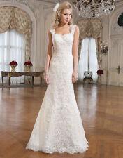 Justin Alexander Lace Cap Sleeve Wedding Dresses