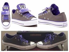 Converse All Star Chuck Taylor Women's Size 6 Gray Purple Double Tongue 😍