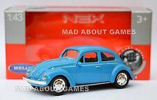 VOLKSWAGEN BEETLE 1:43 Car Metal Model Diecast Miniature Die Cast Blue