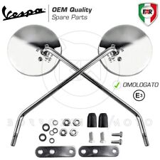 Coppia specchi Specchietti cromati dx SX Piaggio Vespa 50 Special Faro quadro