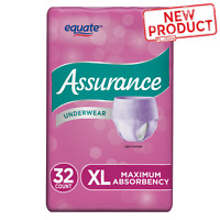 XL Women Underwear 32 Ct Incontinence Secure Breathable Comfort Shape Overnight