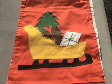 santa sleigh tree presents on red or white garden flag - get 1 only per win