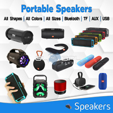 Portable Wireless Bluetooth Speaker Audio lot USB AUX TF Bass Loud Sound COLORS