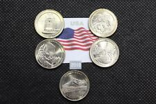 STATI UNITI 2010 N.5 MONETE da 1/4 DOLLARO $ PARCHI USA ZECCA D
