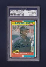 Rickey Henderson signed New York Yankees 1987 Fleer Baseball's Best card Psa