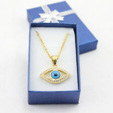 Gold Charm Pendant Turkish Evil Eye Necklace Stainless Steel Good Luck Jewelry