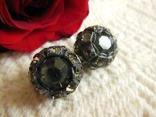 DUO boutons vintage en résine strass à pied volume collection 1,8 cm boule R2367