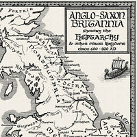 Map of Anglo-Saxon Britain - Fine Art Prints by Manuscript Maps