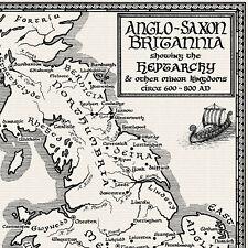 Map of Anglo-Saxon Britain - Fine Art Prints by Manuscript Maps