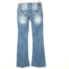 Vanity Womens Jeans Curvy Bootcut Size 24 X 30 Stretch Distressed