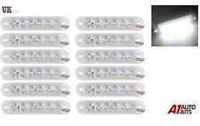 12x LED 12V 24V FRONT SIDE WHITE CLEAR MARKER LAMPS LIGHTS TRUCK LORRY OUTLINE