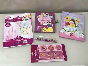 Set Disney Princess Briefumschläge Lineal Tagebuch Sticker Schreibwaren RAR