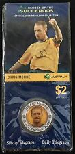 2006 Soceroos Official Medallion Collection Craig Moore 5/15 Sunday Telegraph