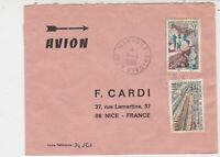 Rep De Cote D'Ivoire 1969 Airmail Mankono Cancels Factory Stamps Cover Ref 32514