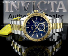 NEW Invicta Men 47mm SPEEDWAY Chronograph Blue Dial 2 Tone Stainless Steel Watch