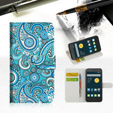 Seamless pattern Wallet Case Cover For Telstra Optus Alcatel Pixi 3 4.5 --A022