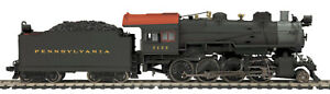HO MTH Die-Cast Pennsylvania H-10 2-8-0 2 Rail DC w/DCC, Sound, Smoke 80-3242-1